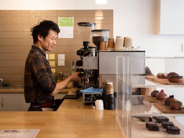 Comeco Foods making coffee (Photograph: Daniel Boud)