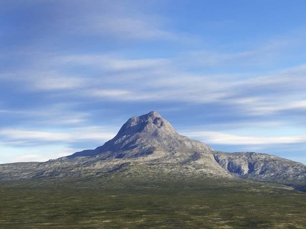 Ilustración de la 'Montaña Solitaria' en Tierra Media de 'El Señor de los Anillos'