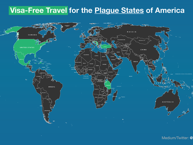 United States travel map