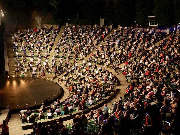 Audience at Teatre Grec, summer 2020