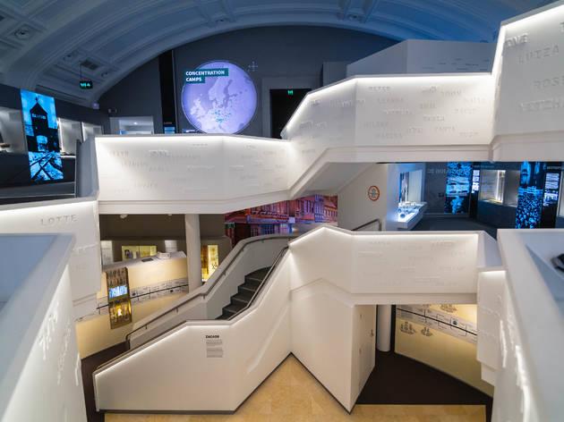 Interior view of the Sydney Jewish Museum.