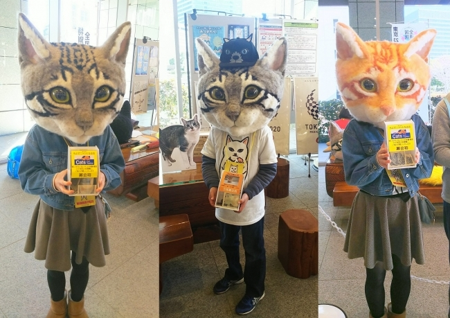 Donate to the Japan Wool Art Academy and receive a giant wearable cat head in return