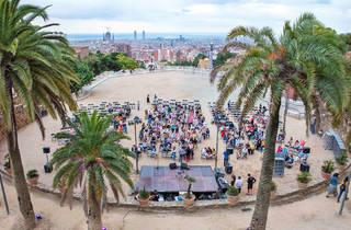 Open-air concert in Park Güell, summer 2020