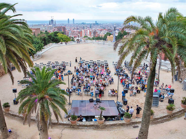 Open-air concert in Park Güell, summer 2020