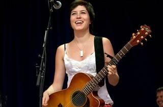 Missy Higgins plays her Maton at Lorne's Falls Festival, 2004
