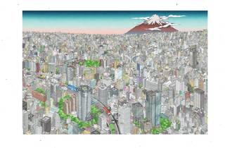 teamLab, The Tokyo Skytree mural