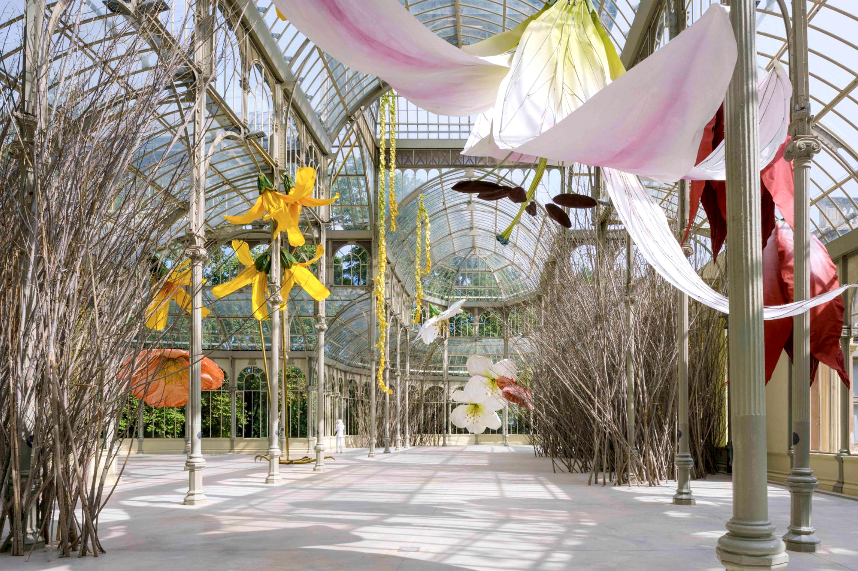 Flores gigantes Palacio Cristal
