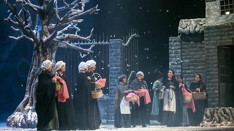 Escena de la ópera La Bohème
