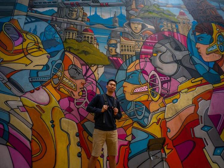 Seek out quirky finds and street art at Haji Lane