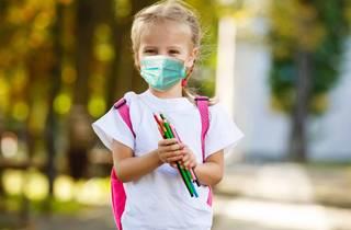 girl kid mask school daycare