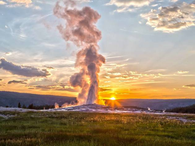 Old Faithful, Niagara Falls, Arches National Park, White Sands National Monument, Mount Rainier National Park, the Grand Canyon, Monument Valley, Glacier Bay National Park, Redwood National and State Parks, Devils Tower National Monument