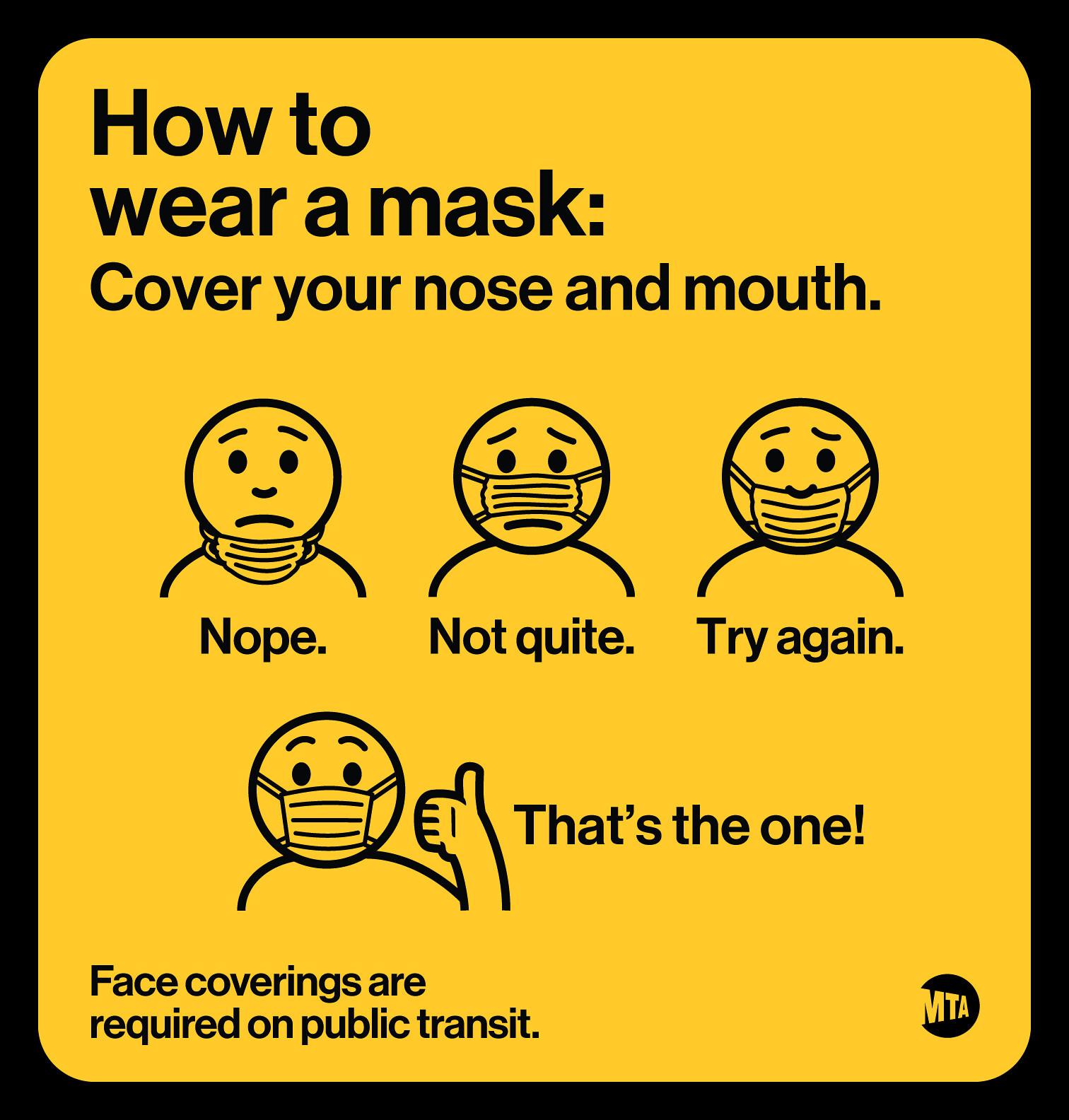 MTA mask signs