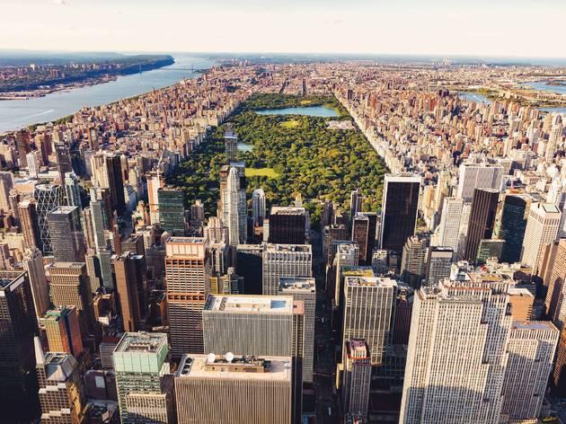 NYC skyline central park manhattan