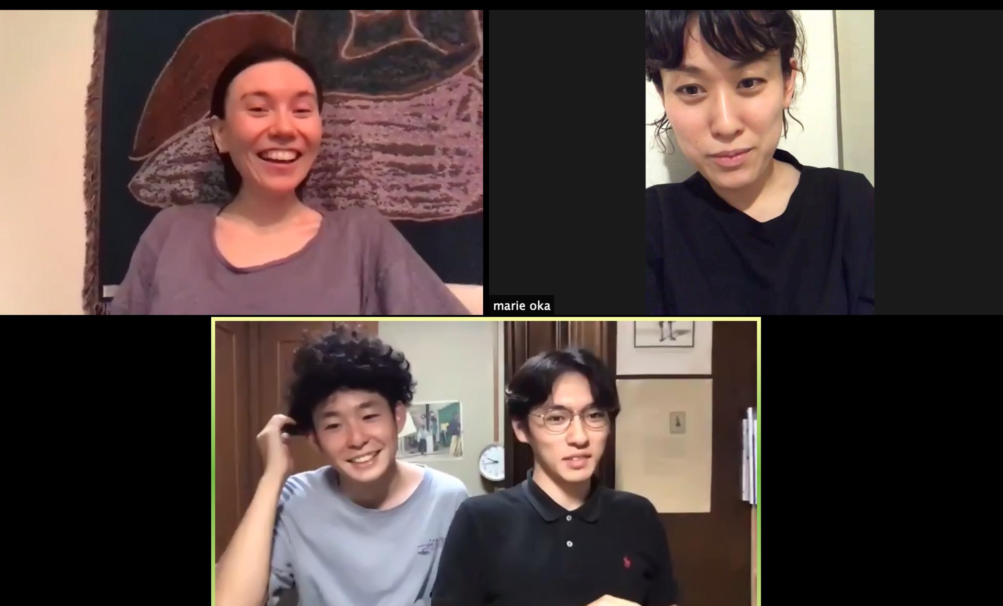 左上からermhoi、岡磨理絵、RossMoodyのKeita Kobayashi、Kobamuta