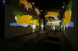 Sala de la exposición Monet the Experience en la CDMX