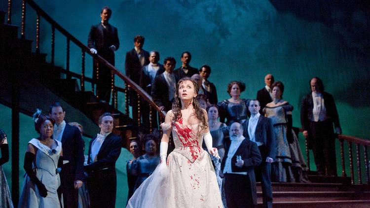 """Natalie Dessay in the title role of Donizetti's """"Lucia di Lammermoor"""""""