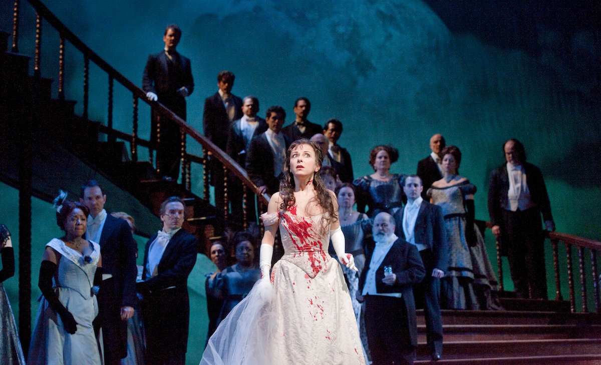 "Natalie Dessay in the title role of Donizetti's ""Lucia di Lammermoor"""