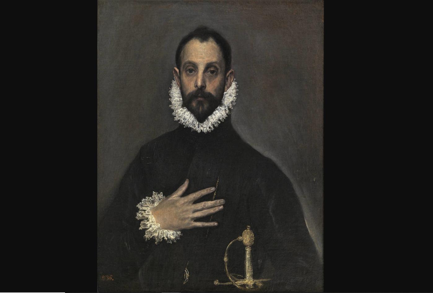 Gentleman with His Hand on His Chest / El caballero de la mano en el pecho, Domenikos Theotokopoulos (El Greco)
