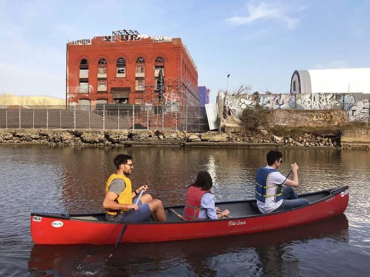 Take a canoe tour of the Gowanus Canal