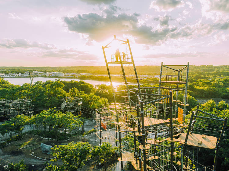 Take a chilly zipline ride at The Forge