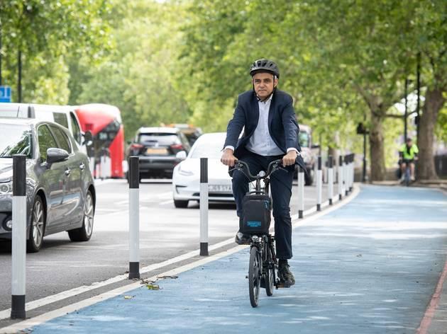 mayor of london, sadiq khan, cycling, bikes, cycle paths