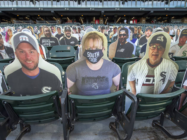 White Sox cutouts in stands