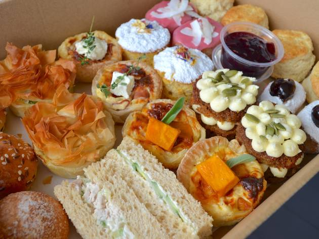 Collins Coffee House high tea in a box