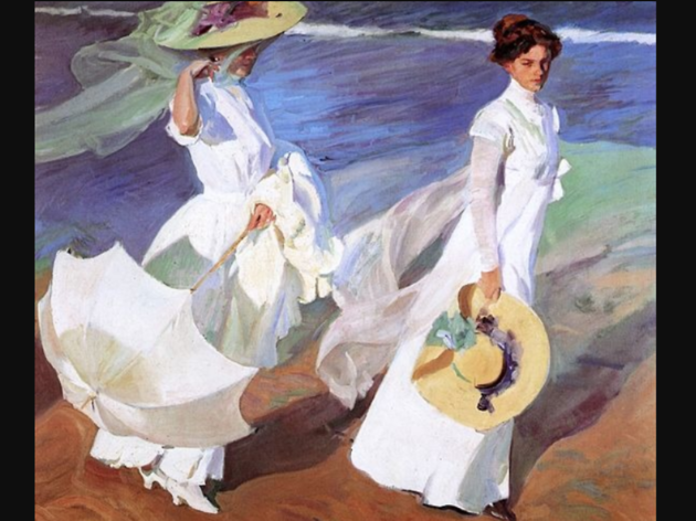 Walk on the Beach, Joaquín Sorolla