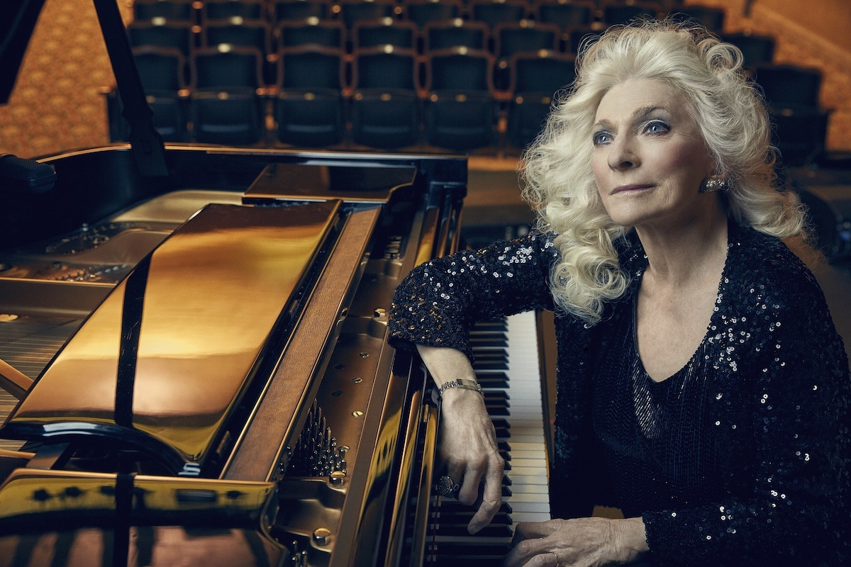 Judy Collins at piano
