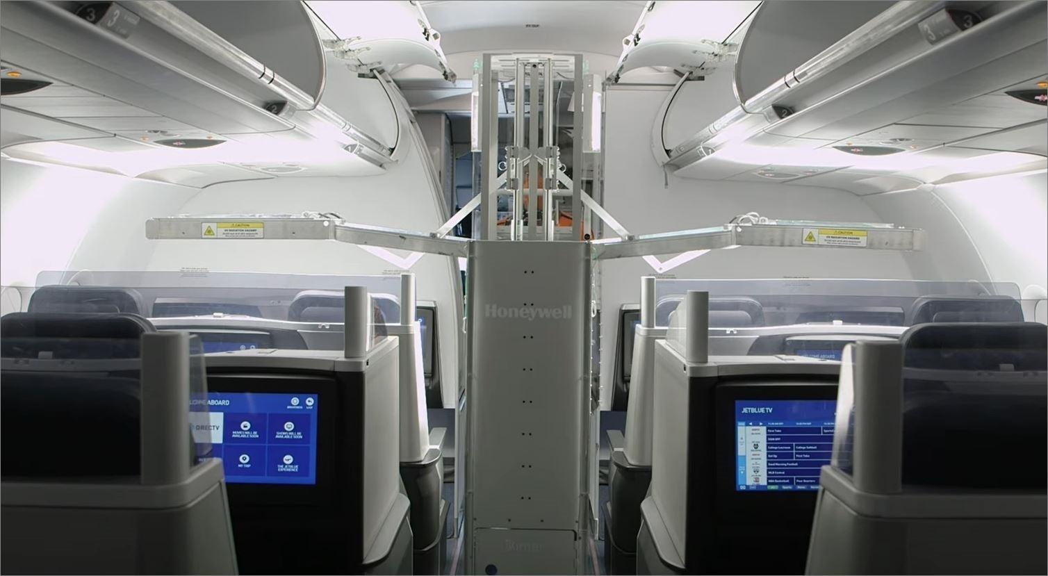 ジェットブルー航空が機内消毒に紫外線ロボットを導入