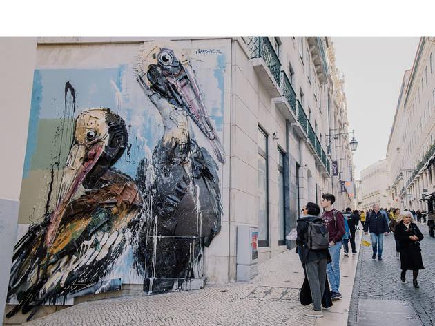 Arte Urbana, Bordalo II, Rua do Carmo, Pelicanos