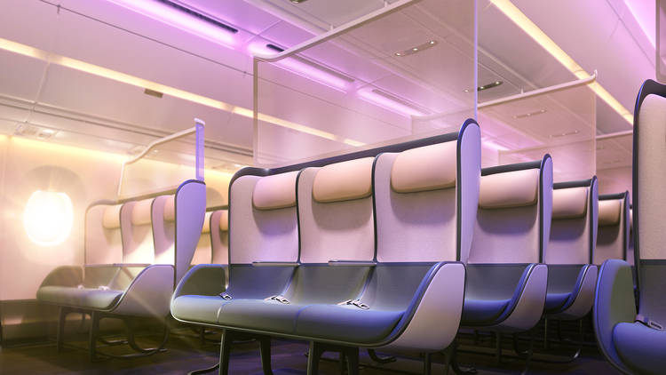 New Pure Skies Zone aeroplane seat designs by PriestmanGoode