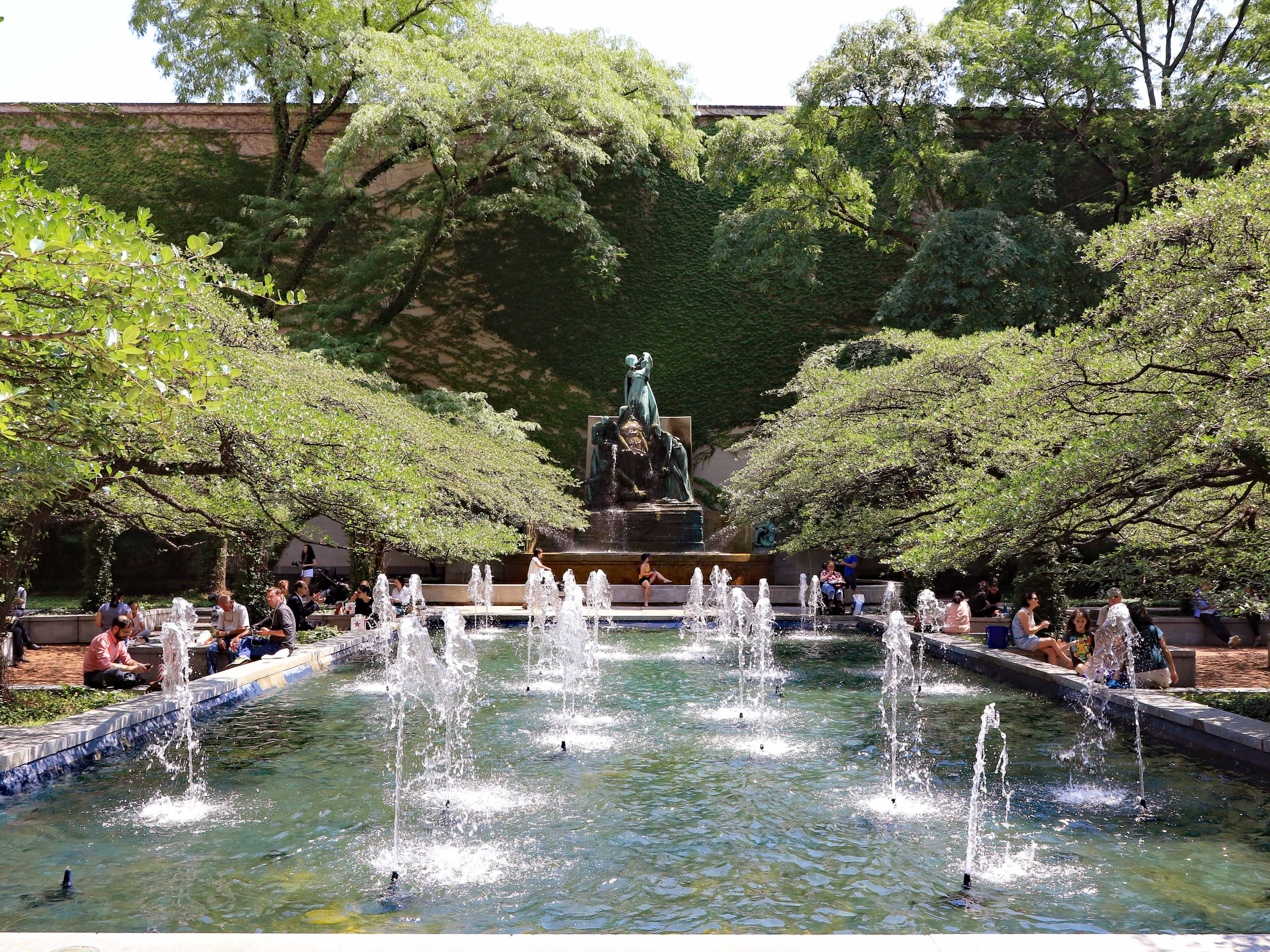 South Garden at the Art Institute of Chicago, South Garden, Art Institute, Shutterstock