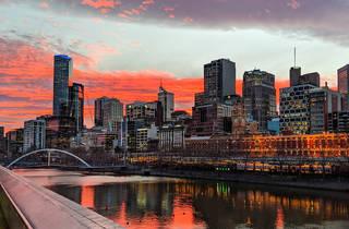 Melbourne sunset skyline
