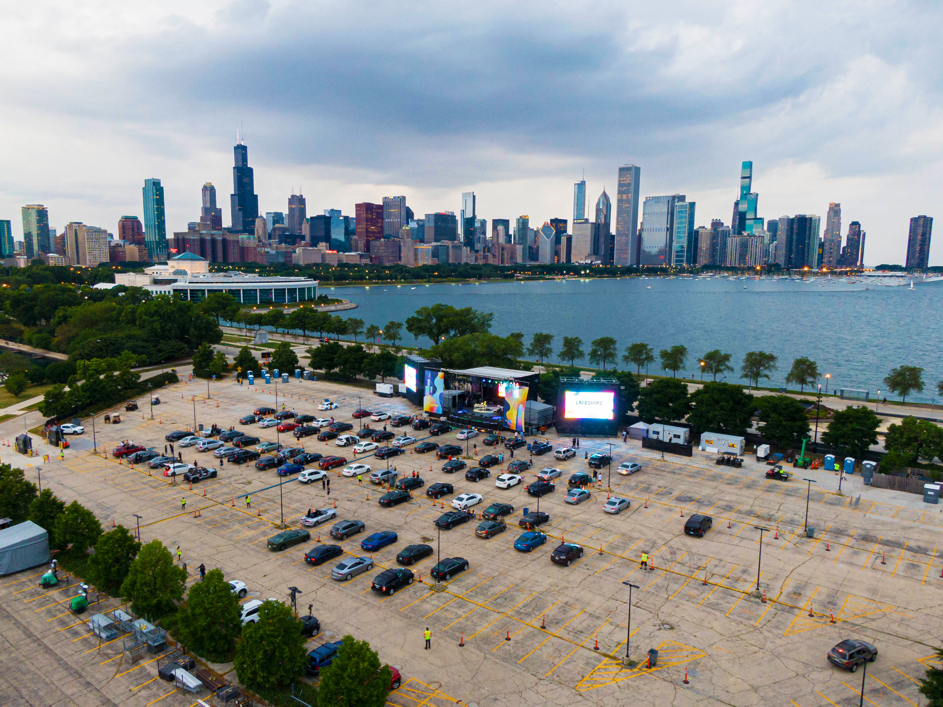 Lakeshore Drive-In brings live music to a parking lot near Adler Planetarium