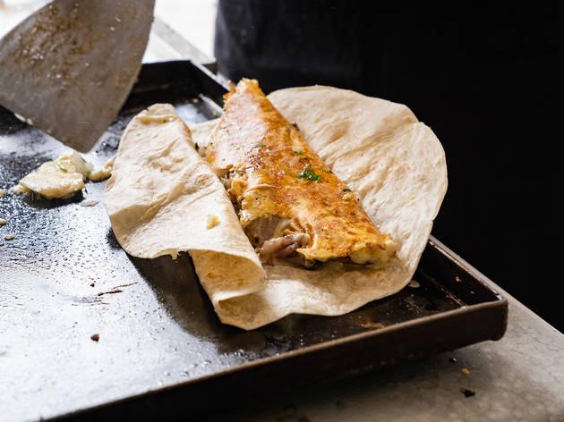 tortilla con sirloin de la sirloinería
