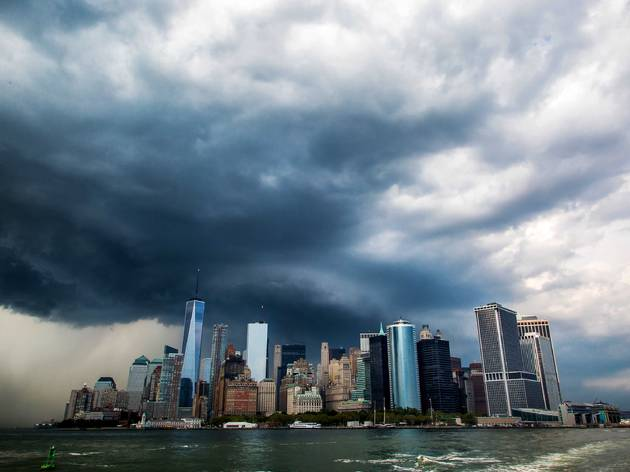 nyc in a storm
