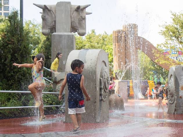 Cool splash pads in NYC