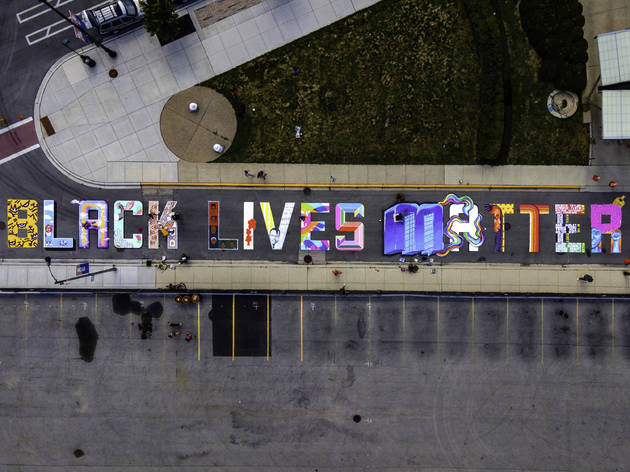 Black Lives Matter mural by Carson Cloud