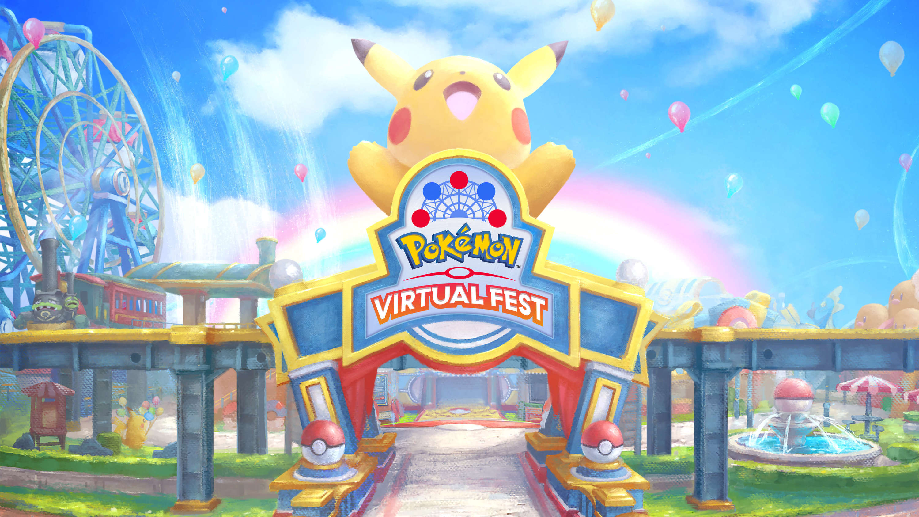 Visit the virtual Pokémon theme park for games, Pikachu dance shows and Pokémon battles