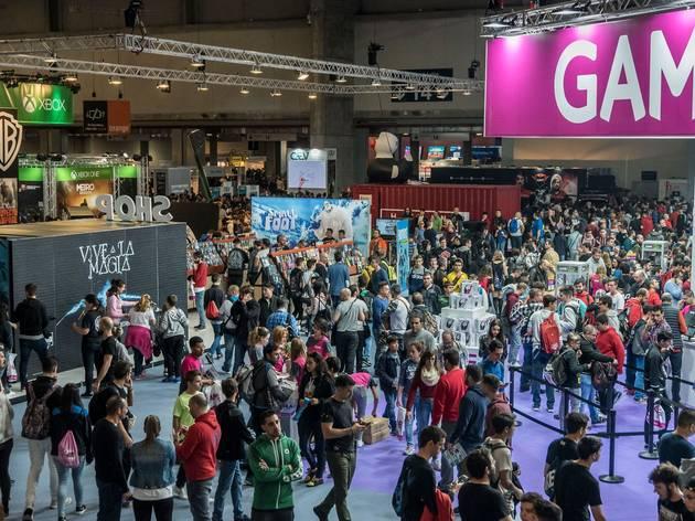 Interior de la feria de Madrid Games Week