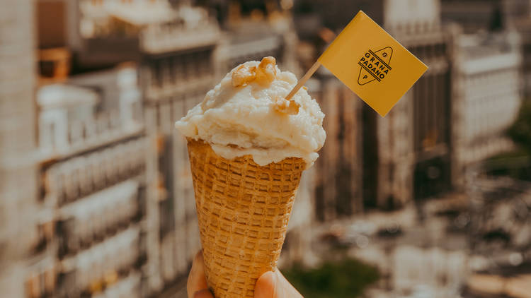 Primera ruta del helado artesanal de queso Grana Padano
