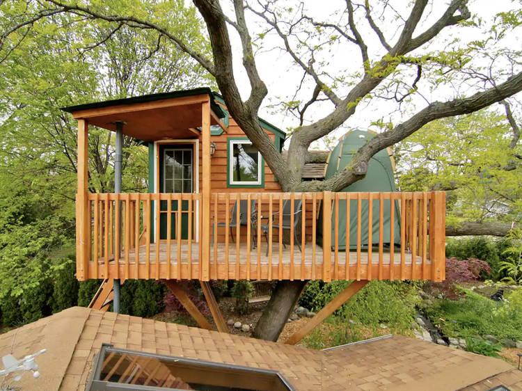 Enchanted garden treehouse