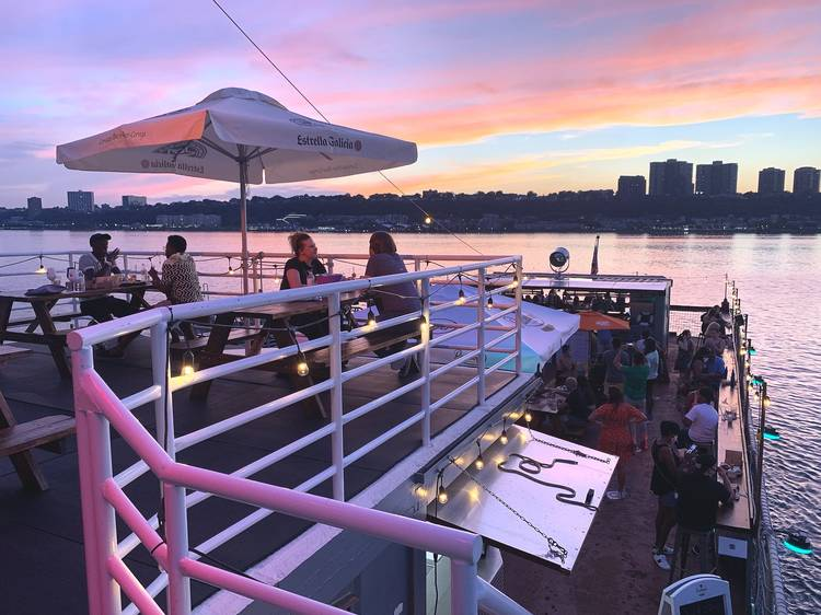 Eat at a new Harlem restaurant on a small aircraft carrier