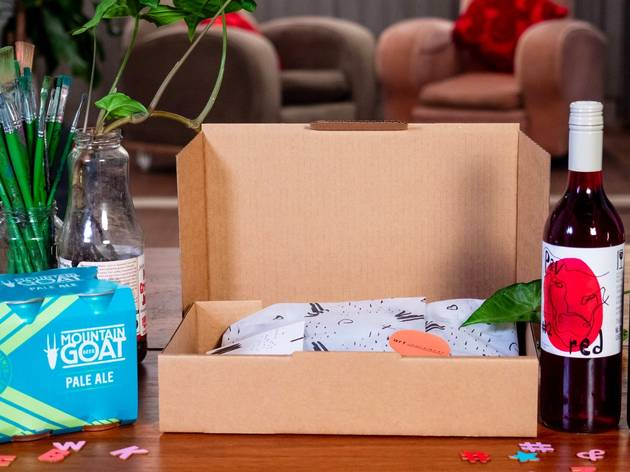 This subscription sends you craft activities with drink pairings