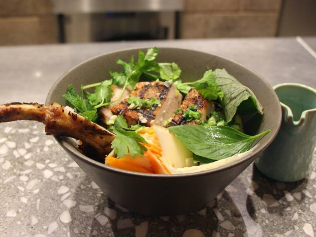 Chef's Recipe: Vietnamese grilled pork over vermicelli and vegetables