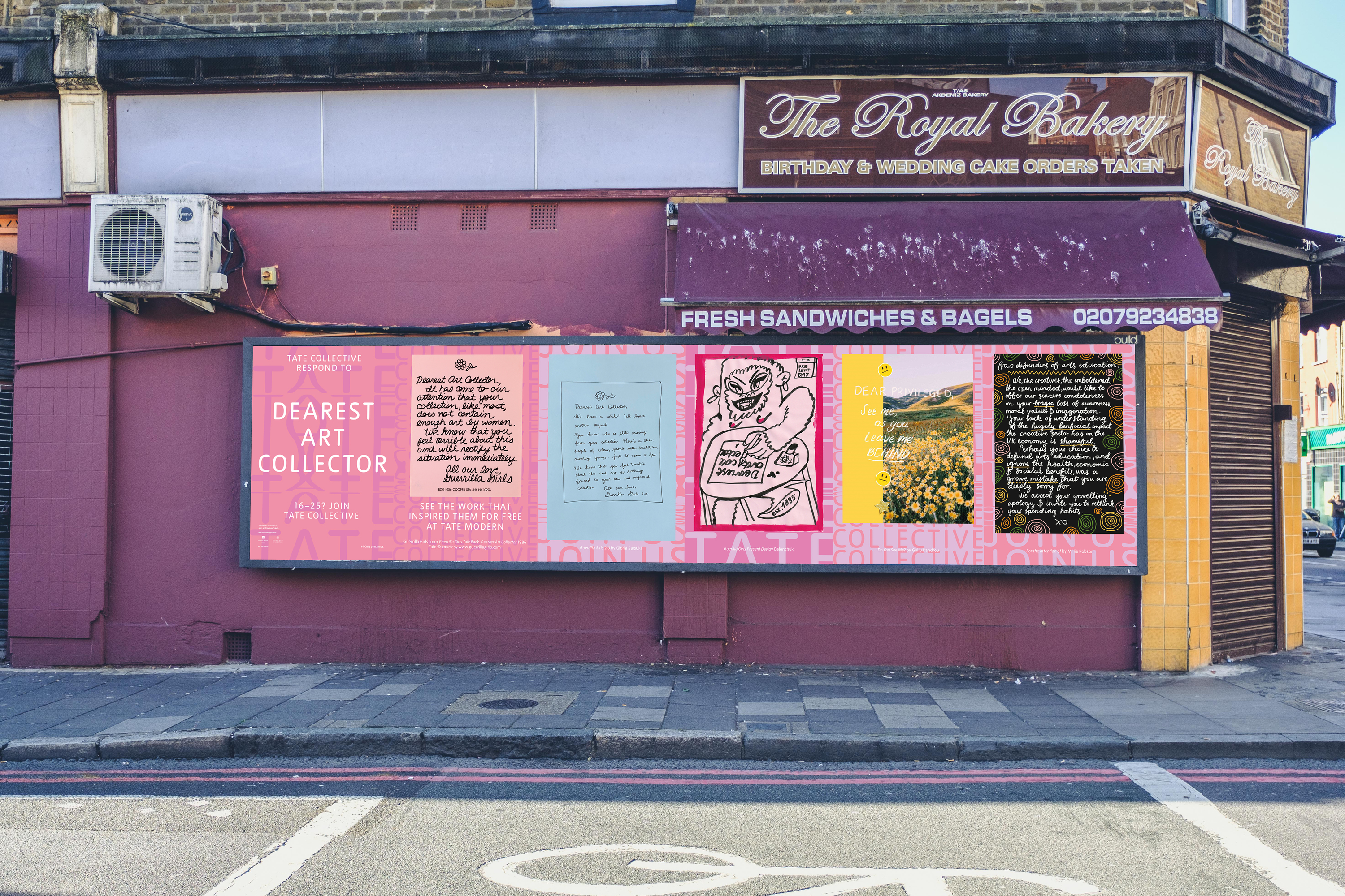 Tate has covered London's billboards with work by up-and-coming artists