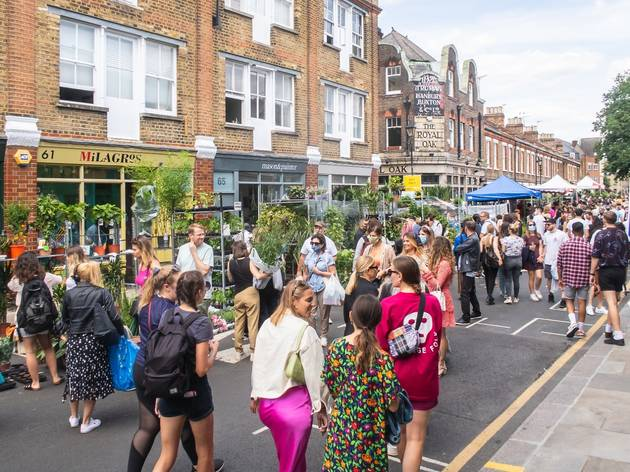 columbia road flower market after covid