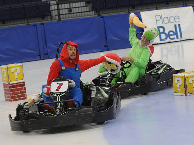 YES! Place Bell's Mario Kart-themed go-karting ice track is back this month