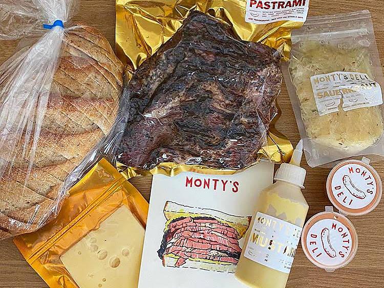 Monty's Deli, reuben sandwich pack